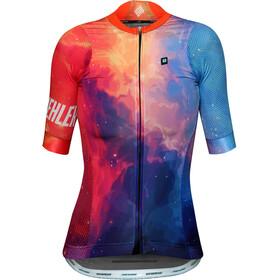 Biehler Pro Team Koszulka kolarska, krótki rękaw Kobiety pomarańczowy/niebieski